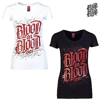 Blood in blood out ladies T-Shirt blood logo