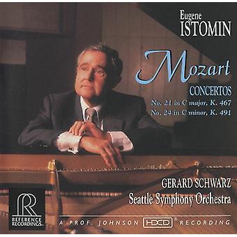 W.a. Mozart - Mozart: Piano Concertos nr. 21 og 24 [CD] USA importerer