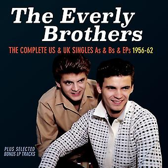 Everly Brothers - Everly Brothers-Complete importare noi & USA Uk Single [CD]