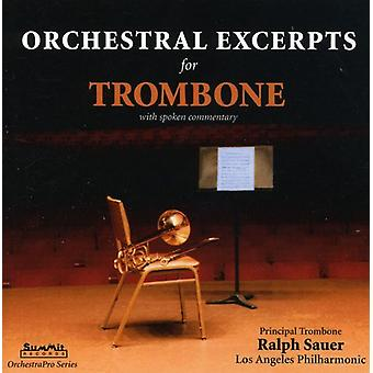Ralph Sauer - Orchestral Excerpts for Trombone [CD] USA import