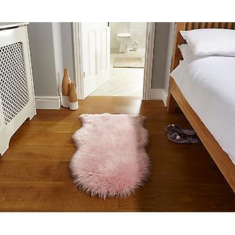 Faux schapenvacht roze rechthoek tapijten Plain/bijna gewoon tapijten