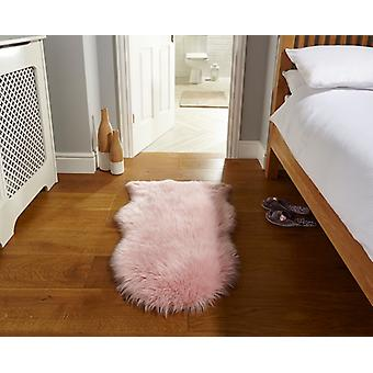Faux fårskinn rosa rektangel mattor Plain/nästan slätt mattor