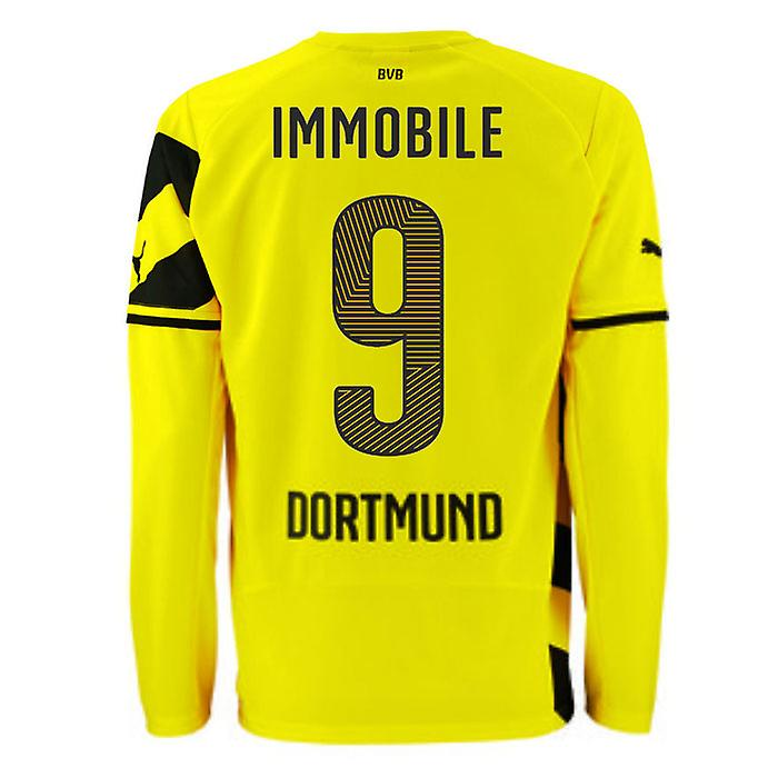 2014-15 Borussia Dortmund Long Sleeve Home Shirt (Immobile 9)