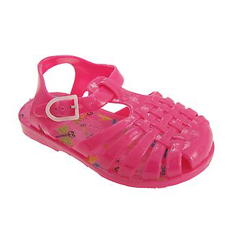 Childrens Girls Closed Design Buckle Fastening Jelly Sandals