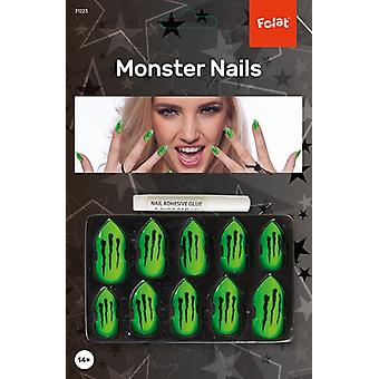 Monster Hexen Halloween Fingernägel Damenkostüm