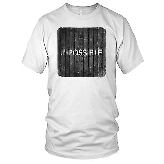 Impossible - Motivation Bodybuilding Weight Training Fitness Ladies T Shirt