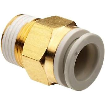 KQ2H04-02AS SMC One-touch Fitting White Color - Male Connector