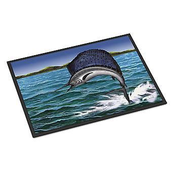 Carolines Treasures  PTW2037JMAT Blue Marlin Indoor or Outdoor Mat 24x36