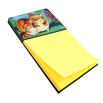Carolines Treasures  7412SN Corgi Momma's Love Sticky Note Holder