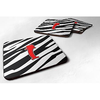 مجموعة من حرف واحد فقط 4-زيبرا الرغوة الحمراء الوقايات الأولى حرف I