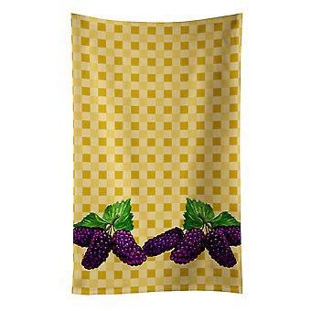 Carolines Treasures  BB7176KTWL Mulberries on Basketweave Kitchen Towel