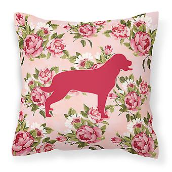 Labrador Shabby Chic Pink Roses  Fabric Decorative Pillow