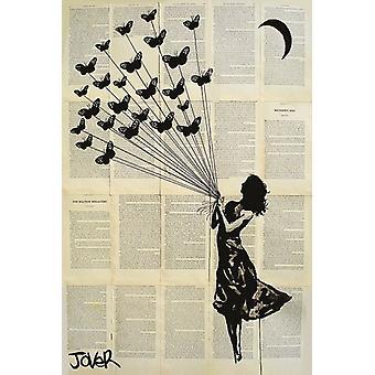 Jover - Butterflying affisch affisch Skriv
