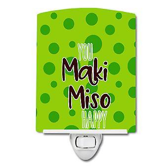 Carolines Schätze BB8813CNL Sushi Maki Miso glücklich Keramik Nachtlicht
