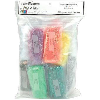 Angelina Crimped Cut Fibers .1 Ounce 13 Pkg Jelly Beans Acjelly