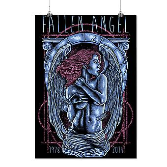 Matte or Glossy Poster with Fallen Angel Girl Fantasy | Wellcoda | *d1983