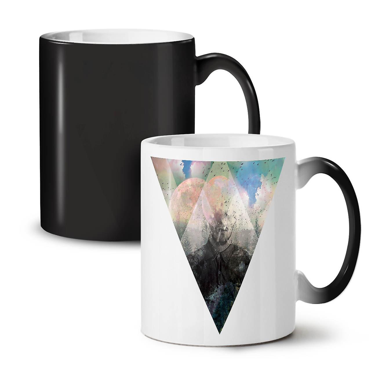 Tea Changing Ceramic Mug Hippie OzWellcoda Colour 11 New Coffee Painting Black LAj54R