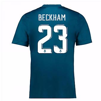 2017-18 real Madrid tredje skjorta (Beckham 23) - barn