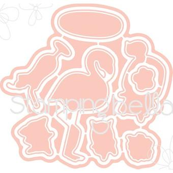 Stamping Bella The Littles Cut It Out Dies-Surfer CIO511