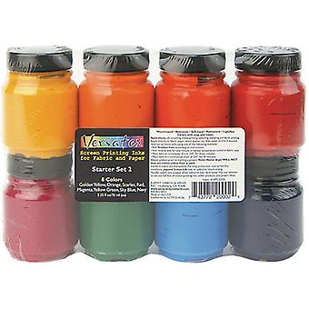 Versatex Printing Ink Set #2 8/Pkg-2.25fl oz VPS2000