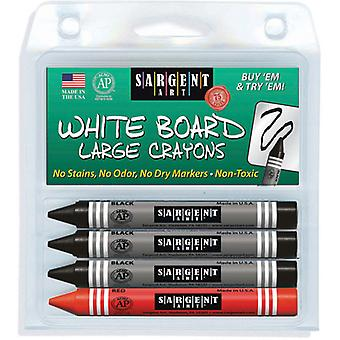 Sargent Art Large Wipe-Off White Board Crayons-4/Pkg S35-0523