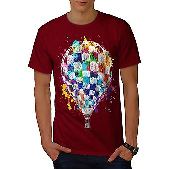 Air Balloon Journey Men RedT-shirt | Wellcoda