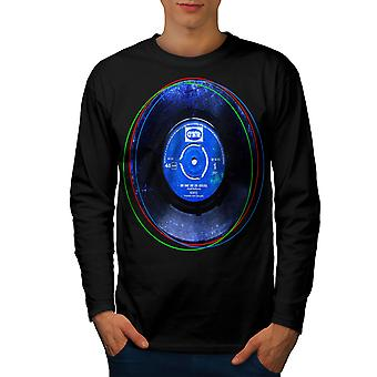 Vynyl Beat Dance Music Men BlackLong Sleeve T-shirt   Wellcoda