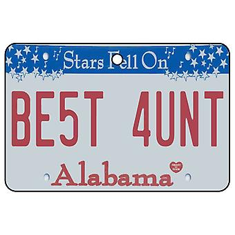 Alabama - Best Aunt License Plate Car Air Freshener