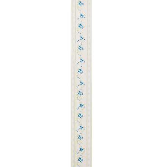 Graham & Brown Border Wallpaper - Floral - Lucy Blue & Cream - 21022