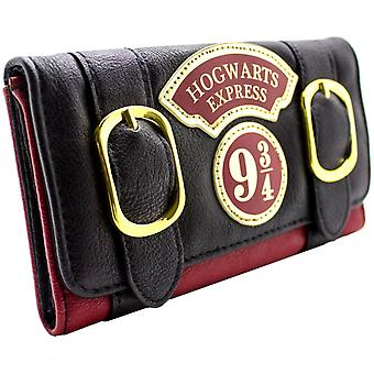 Harry Potter Hogwarts Express doble hebilla triple monedero