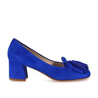 Franco Colli ladies FC458BR Blau suede pumps
