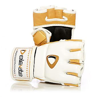Elevate  4oz Fight Gloves 2-Tone - White Gold