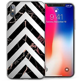 iPhone X Pink Marble Arrows TPU Gel Case