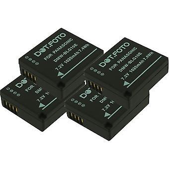 4 x Dot.Foto Panasonic DMW-BLE9, DMW-BLE9E, DMW-BLG10, DMW-BLG10E batteri
