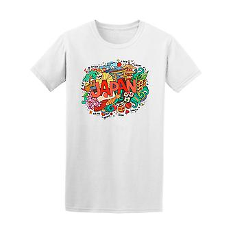 Japan Asia Country Nippon Doodle Tee Men's -Image by Shutterstock