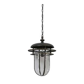 Licht & Living Hanging Pendant Lamp D45x65cm Quenby Antique grijs