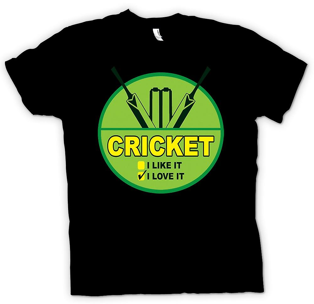 Kids T-shirt - Cricket I Love It - grappig
