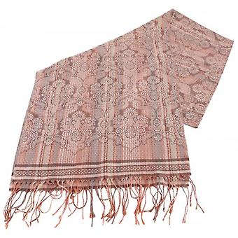 Bassin och brun Bush Willow Stripe Flower Scarf - Brown/Camel