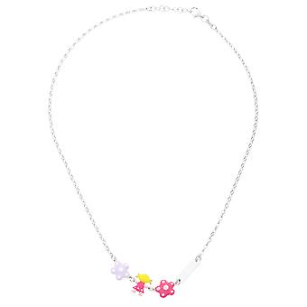 Orphelia Silver 925  Kids Necklace Flowers + Doll Zirc  ZK-7147