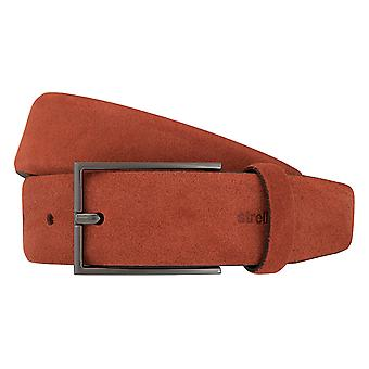 Strellson belts men's belts leather belt suede red 2029