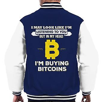 Ich mag aussehen wie Im hören aber Im Bitcoin Männer Varsity Jacke zu kaufen