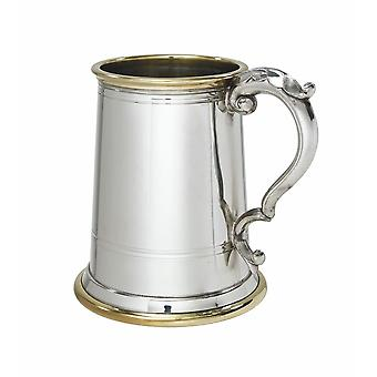 Wortley Pewter And Brass 1 Pint Tankard