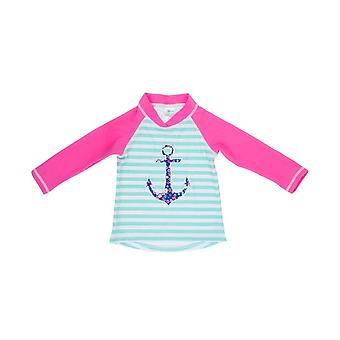 Banz Girls UV Long Sleeved Rash Top - Anchor