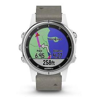 Garmin Fenix 5S Plus Sapphire Weiß GPS Multisport Smartwatch (010-01987-05)