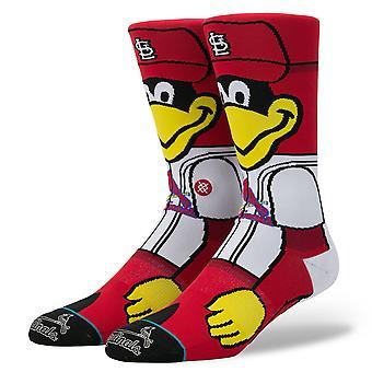Hållning Fredbird MLB maskot strumpor - röd