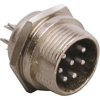 Mini DIN connector Plug, vertical mount Number of pins: 8 Silver BKL Electronic 0206017 1 pc(s)
