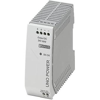 Rail mounted PSU (DIN) Phoenix Contact UNO-PS/1AC/24DC/60W 24 Vdc 2.5 A 60 W 1 x