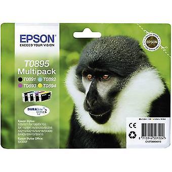 Epson Ink T0895 Original Set Black, Cyan, Magenta, Yellow C13T08954010