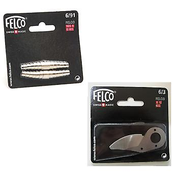 Felco model 6 secateurs volute SPRING and BLADE set - model 6,12 - new