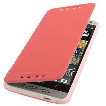 Schutzhülle (Flip Quer) für Handy HTC One mini M4 pink